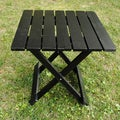 Black Folding Adirondack Side Table