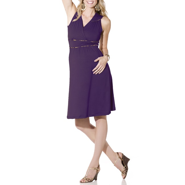 Lilac Clothing's Womens Maternity Katherine Dress in Plum