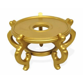 Wooden 5-leg 6.5-inch Gold Fishbowl Stand