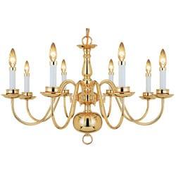 Woodbridge Lighting Williamsburg 8-light Polished Bronze Chandelier