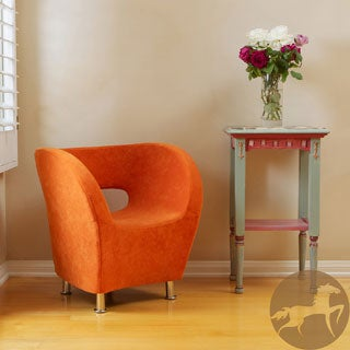 Christopher Knight Home Modern Orange Microfiber Accent Chair
