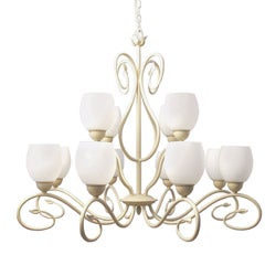 Woodbridge Lighting Champlaign 12-light Washed Gold Chandelier