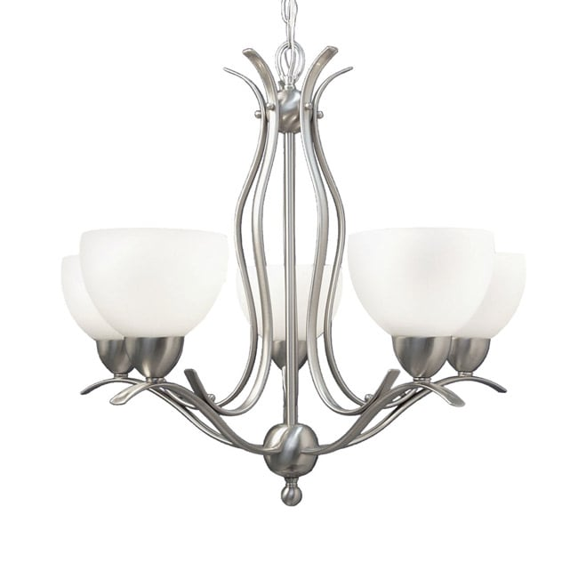 Woodbridge Lighting Hampton Ridge 5-light Satin Nickel Chandelier