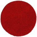 Hand-woven Shagadelic Red Chenille Round Rug (5' x 5')