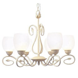Woodbridge Lighting Champlaign 6-light Washed Gold Chandelier