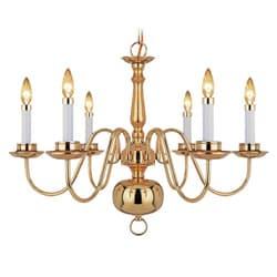 Woodbridge Lighting Williamsburg 6-light Polished Bronze Chandelier