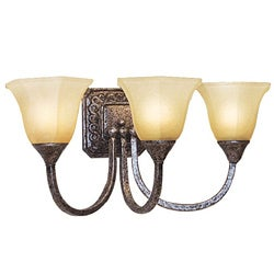 Woodbridge Lighting 3-light Antique Silver Bath Sconce