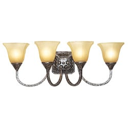 Woodbridge Lighting 4-light Antique Silver Bath Sconce