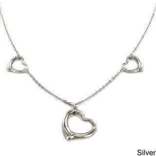 Elya Designs Stainless Steel Three Hearts Necklace