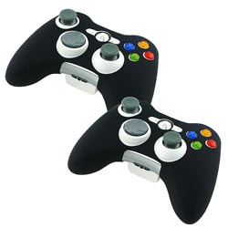 Black Silicone Skin Case for XBOX 360 Game Controller (Pack of 2)