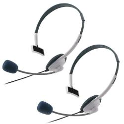 White Headset for Microsoft Xbox 360/ Xbox 360 Slim (Pack of 2)