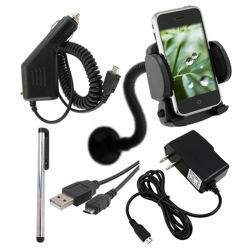 5-piece Chargers/ Mount/ Stylus/ USB Cable