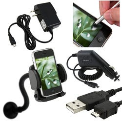 5-piece Charger/ Holder/ Cable/ Stylus for HTC Inspire 4G