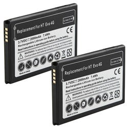 INSTEN Li-ion Battery for HTC EVO 4G (Pack of 2)