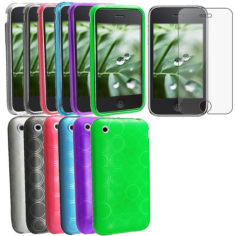 7-piece TPU Cases/ Screen Protector for Apple iPhone 3G/ 3GS