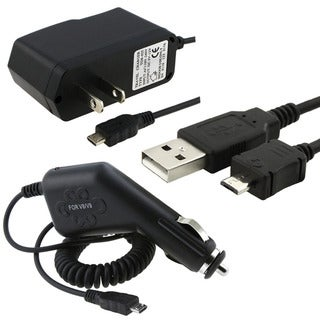 3-piece Micro USB Charger/ Data Cable Set for Samsung Freeform II