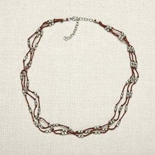 Nickel Beaded Multi-thread Necklace (India)