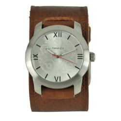 Nemesis Elite Brown Leather Cuff Watch