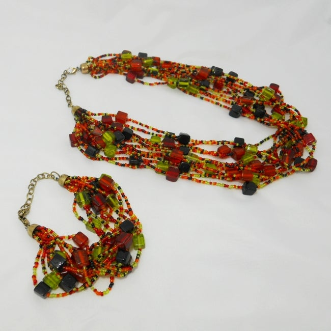 Glass Bead The Amara 'Eternal' Jewelry Set (India)