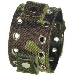 Nemesis Camouflage Eyelet Canvas Watch Band