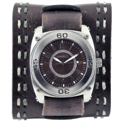 Nemesis Brown Round Mix and Match Leather Watch