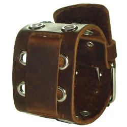 Nemesis EB Eyelet Brown Leather Watch Band