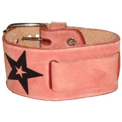 Nemesis Faded Star Pink Leather Watch Band