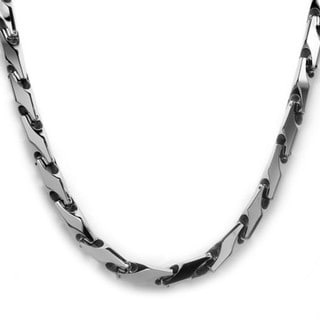 Oliveti Men's Tungsten Carbide Necklace