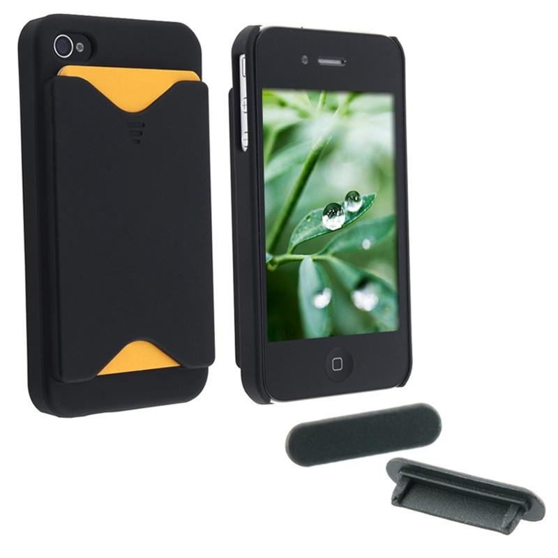 Case with Card Holder/ Dock Plug for Apple iPhone 4