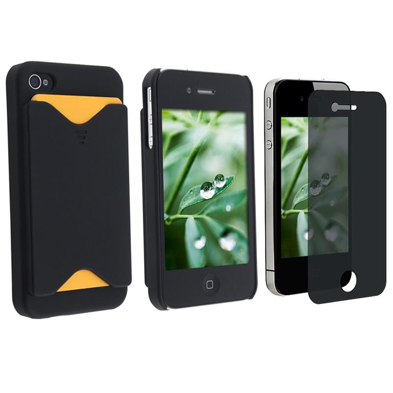 Case with Card Holder/ Privacy Filter for Apple iPhone 4