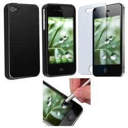 TPU Case/ Screen Protector/ Stylus for Apple iPhone 4
