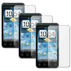 Transparent Screen Protector for HTC EVO 3D (Pack of Three)