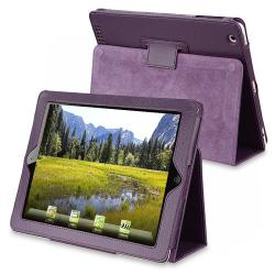 Purple Leather Case with Stand for Apple iPad 2