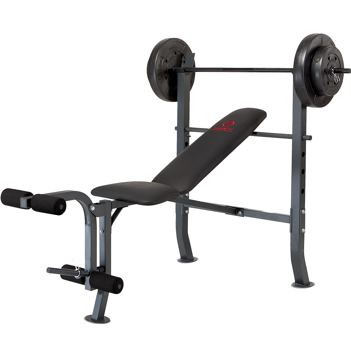 Marcy olympic with 80 pound weight set workout bench overstock shopping the best prices on Bench and weight set