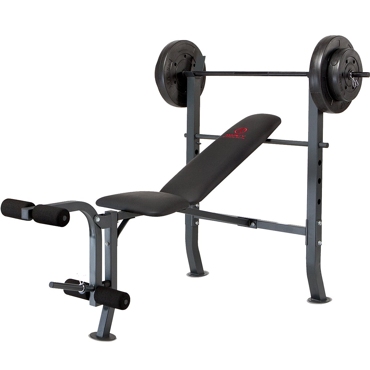 Marcy Olympic With 80 Pound Weight Set Workout Bench Overstock Shopping The Best Prices On
