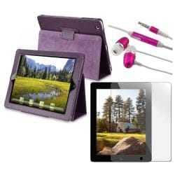 BasAcc Leather Case/ Screen Protector/ Headset for Apple iPad 2