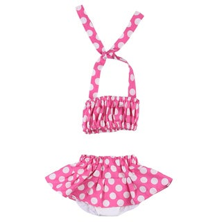 Just Girl's Pink Polka Dot Bathing/ Sun Suit