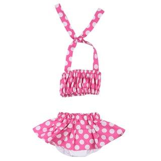 Just Girl's Pink Polka Dot Bathing/ Sun Suit