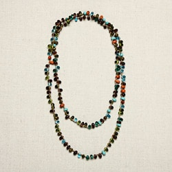 Glass Multicolored Tear Drops Necklace (India)