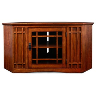 Mission Oak 46-inch Corner TV Stand & Media Console