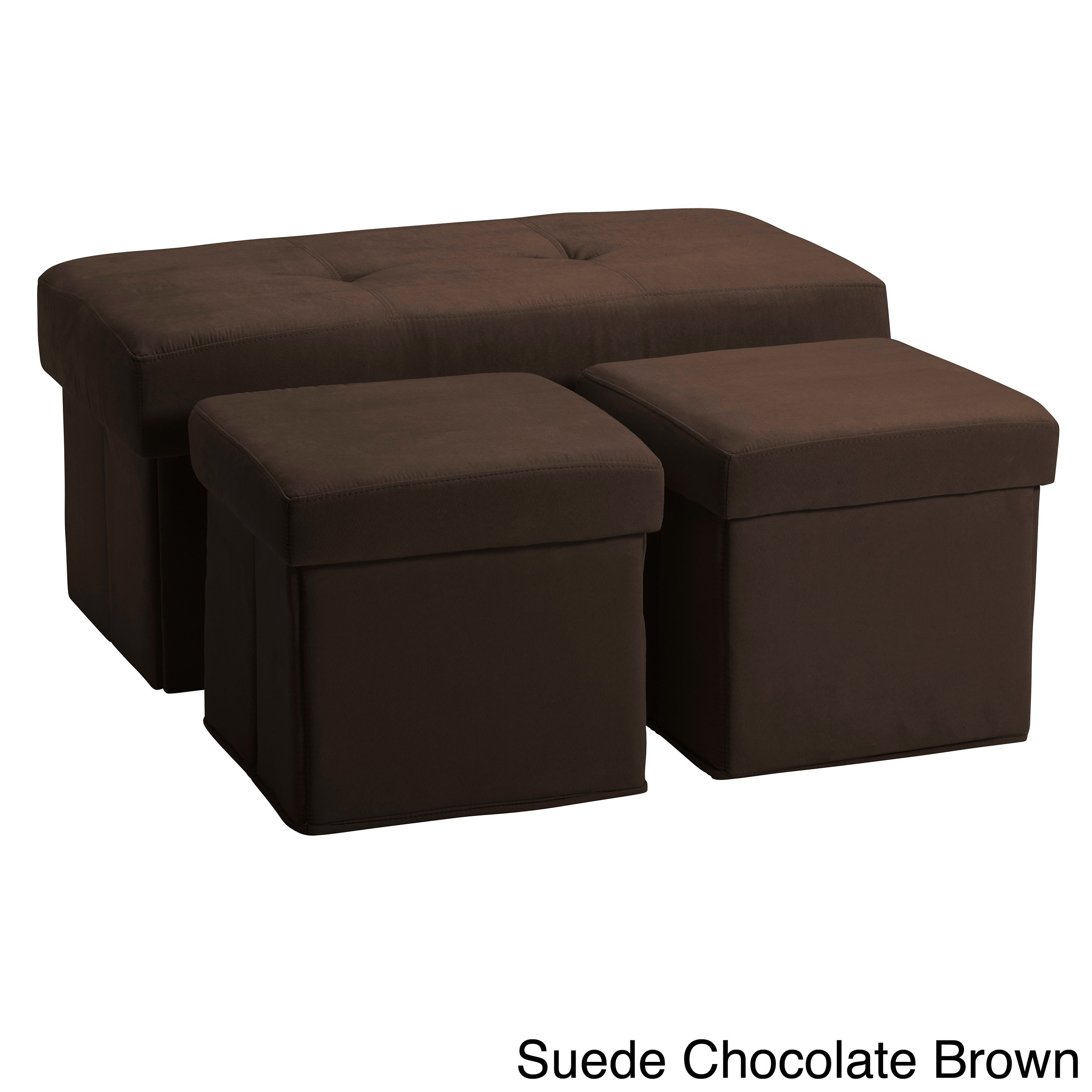 vanderbilt foldable 3 piece storage ottoman set