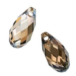 Beadaholique Crystal Bronze Shade 11mm Side Drilled Briolette
