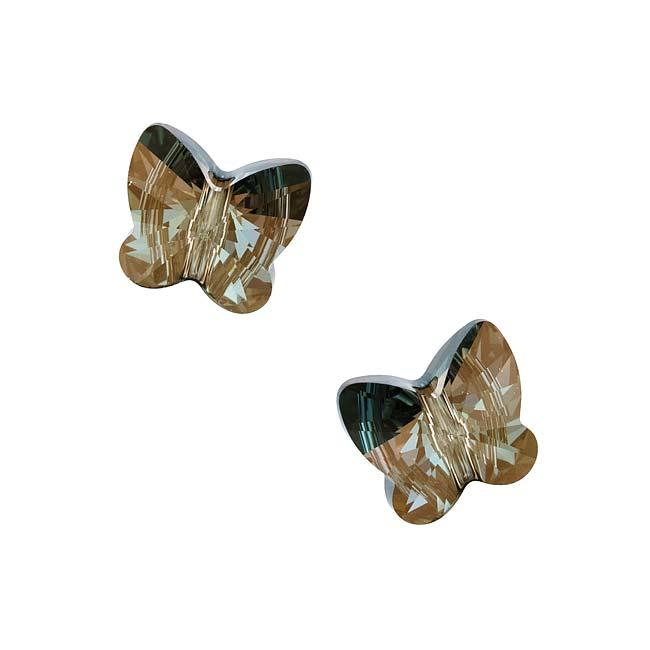 Beadaholique Crystal Bronze Shade 12mm Butterfly Bead