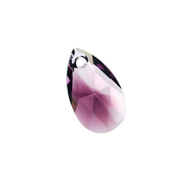 Amethyst Blend 22mm Crystal Pear Pendant