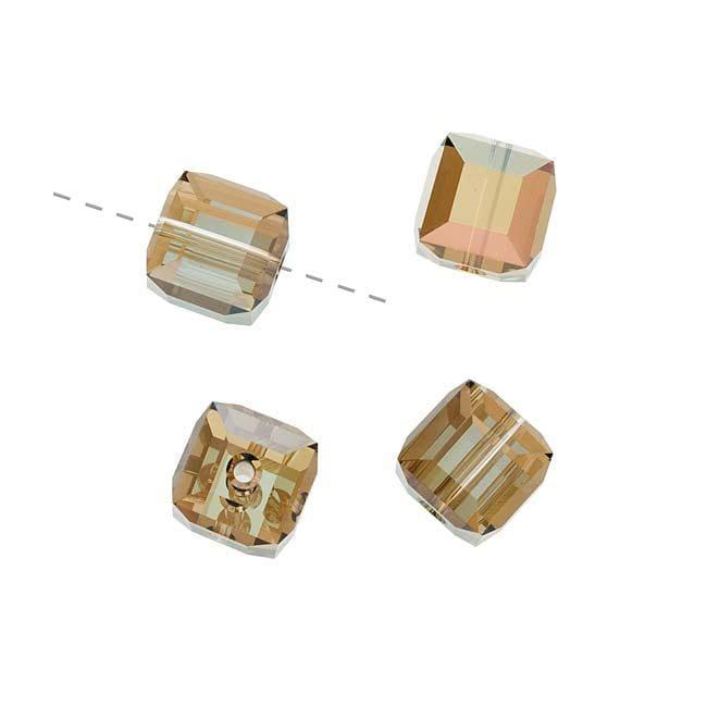 Beadaholique Crystal Bronze Shade 8mm Cube Bead