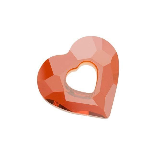 Beadaholique Crystal Red Magma 17mm Miss U Heart Pendant