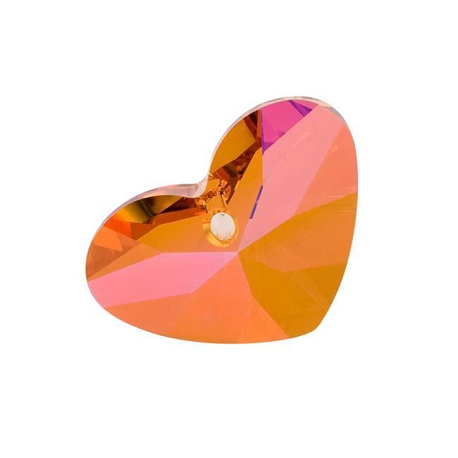 Beadaholique Crystal Astral Pink 27mm Crazy 4 U Heart Pendant