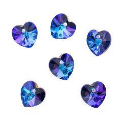 Beadaholique Heliotrope 10mm Crystal Heart Pendant
