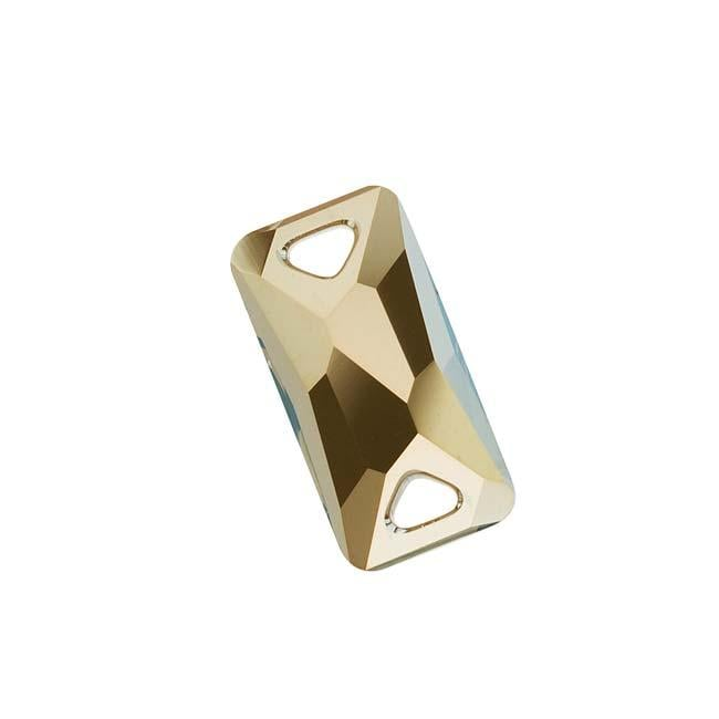 Beadaholique Crystal Bronze Shade 18mm Space Cut Sew-On Stone