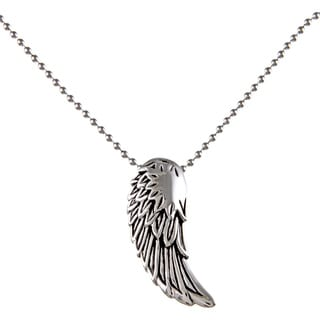 Stainless Steel Men's Angel Wing Pendant